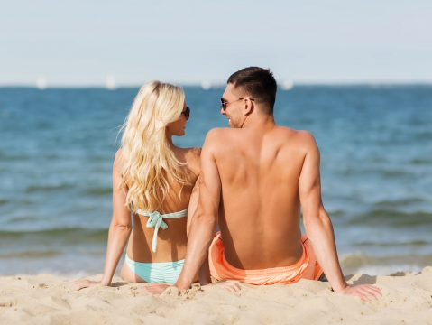 Couple at a Romantic Getaway at the sea