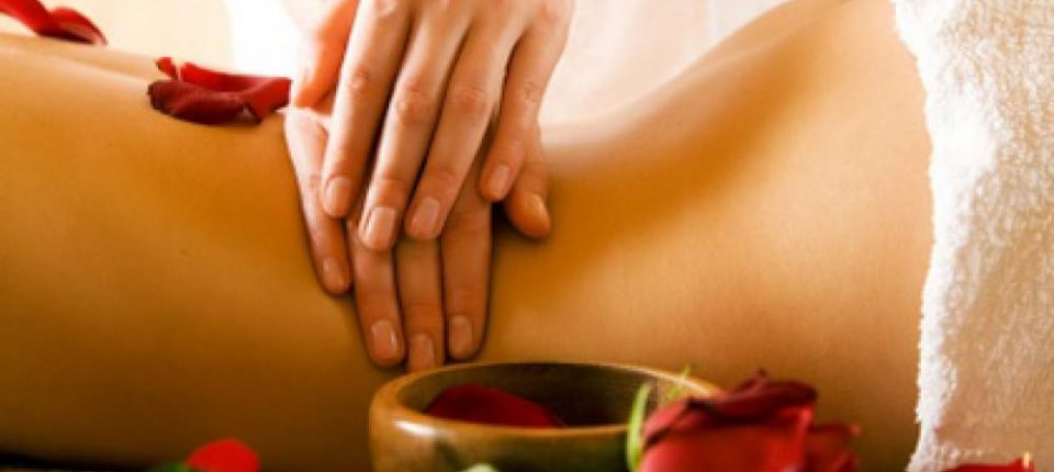 Woman getting massage during Miami Spa Month